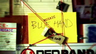 """The Blue Hand"" Matchbook"